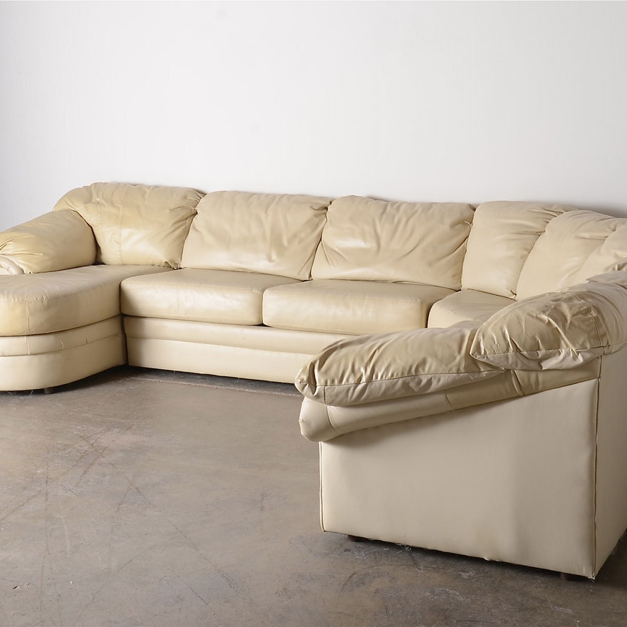 Groovy Bench Craft Four Piece Leather Sectional Sofa Squirreltailoven Fun Painted Chair Ideas Images Squirreltailovenorg
