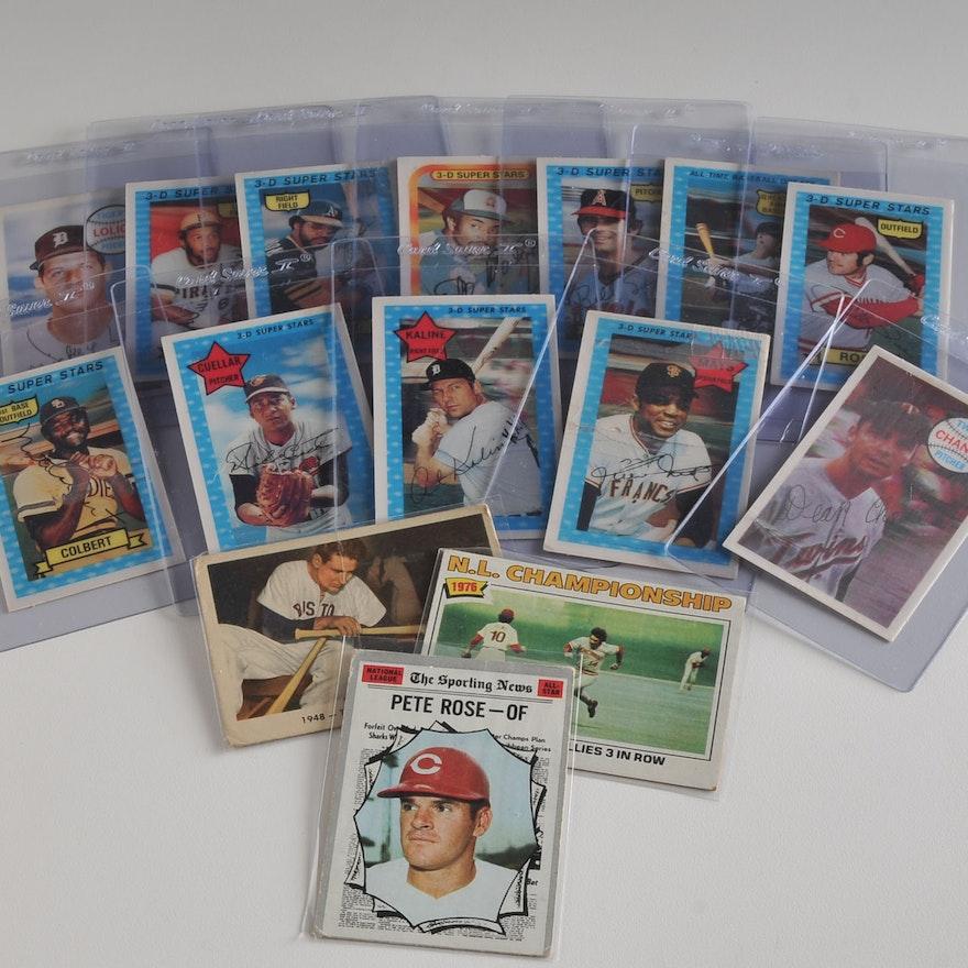 Nice Lot Of Baseball Cards 1970s 3d