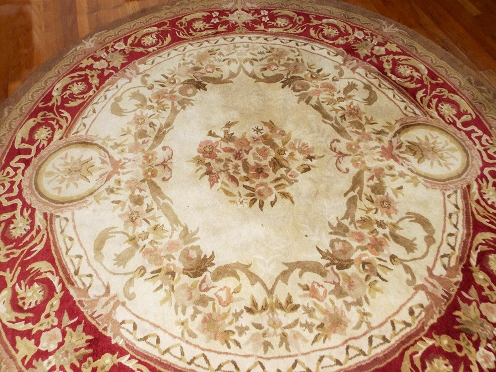 Round Hand Tufted Wool Rug Made In India Ebth