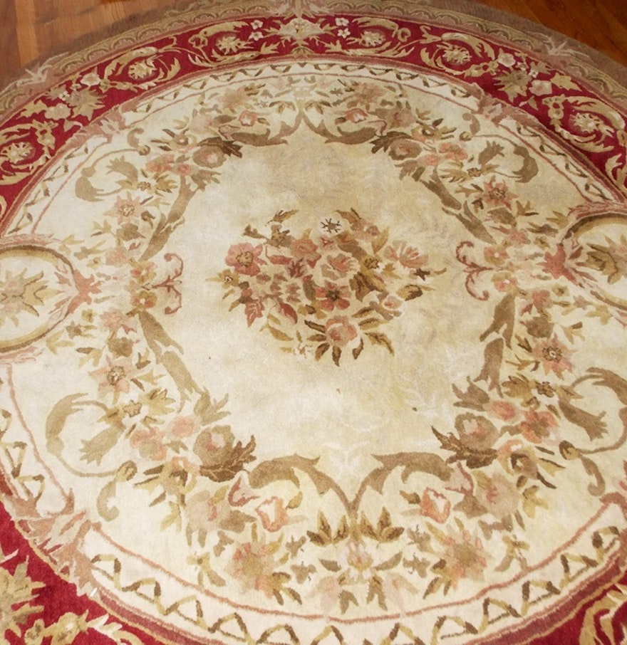 Wool Rugs Made In India: Round Hand Tufted Wool Rug, Made In India : EBTH