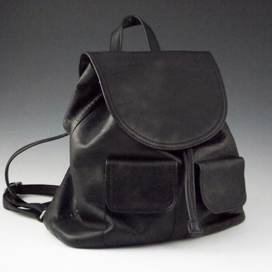 Giani Bernini Black Leather Backpack Style Purse