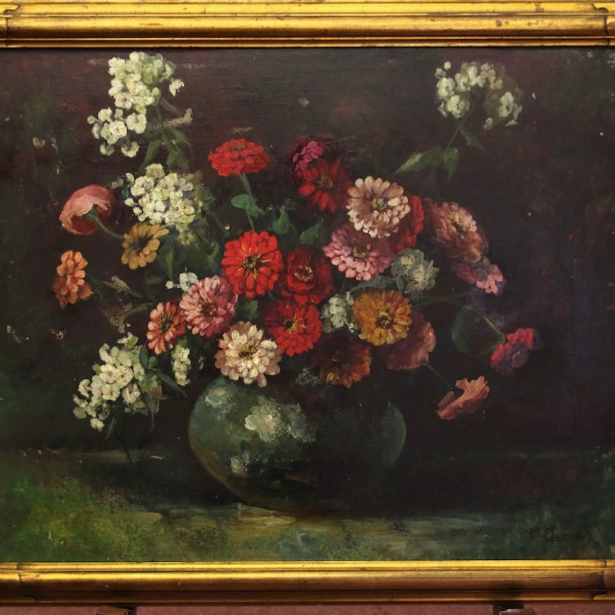 Frank Lean Signed Oil on Canvas Still Life Painting | EBTH