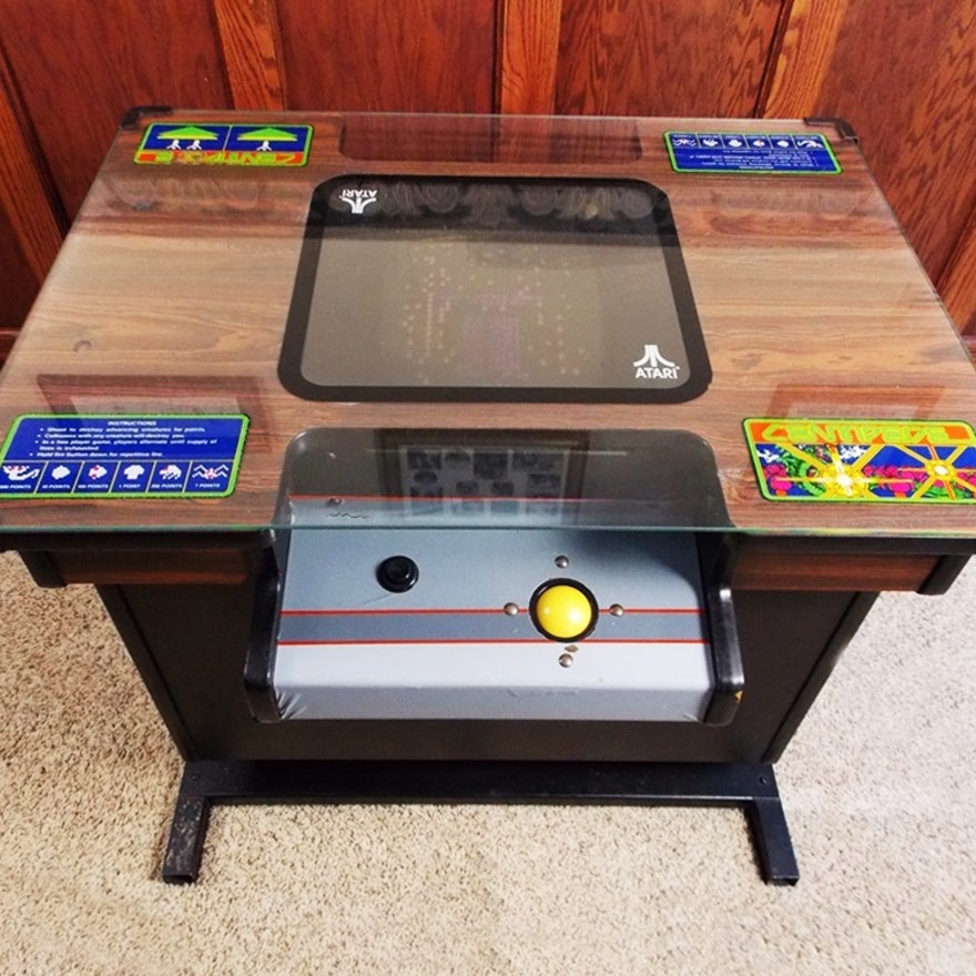 Vintage Atari Cocktail Table Arcade Game Centipede EBTH - Atari coffee table