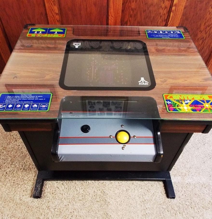 Vintage 1980 Atari Cocktail Table Arcade Game Centipede