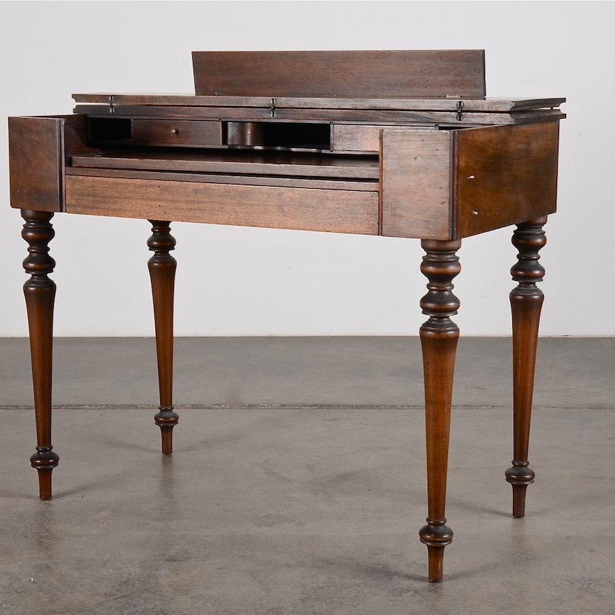 Vintage Mahogany Spinet Desk ... - Vintage Mahogany Spinet Desk : EBTH