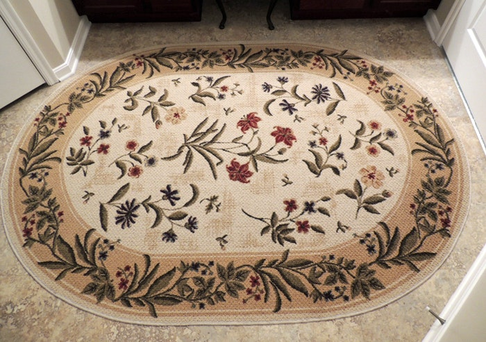 Shaw Living Oval Area Rug Summer Flowers EBTH
