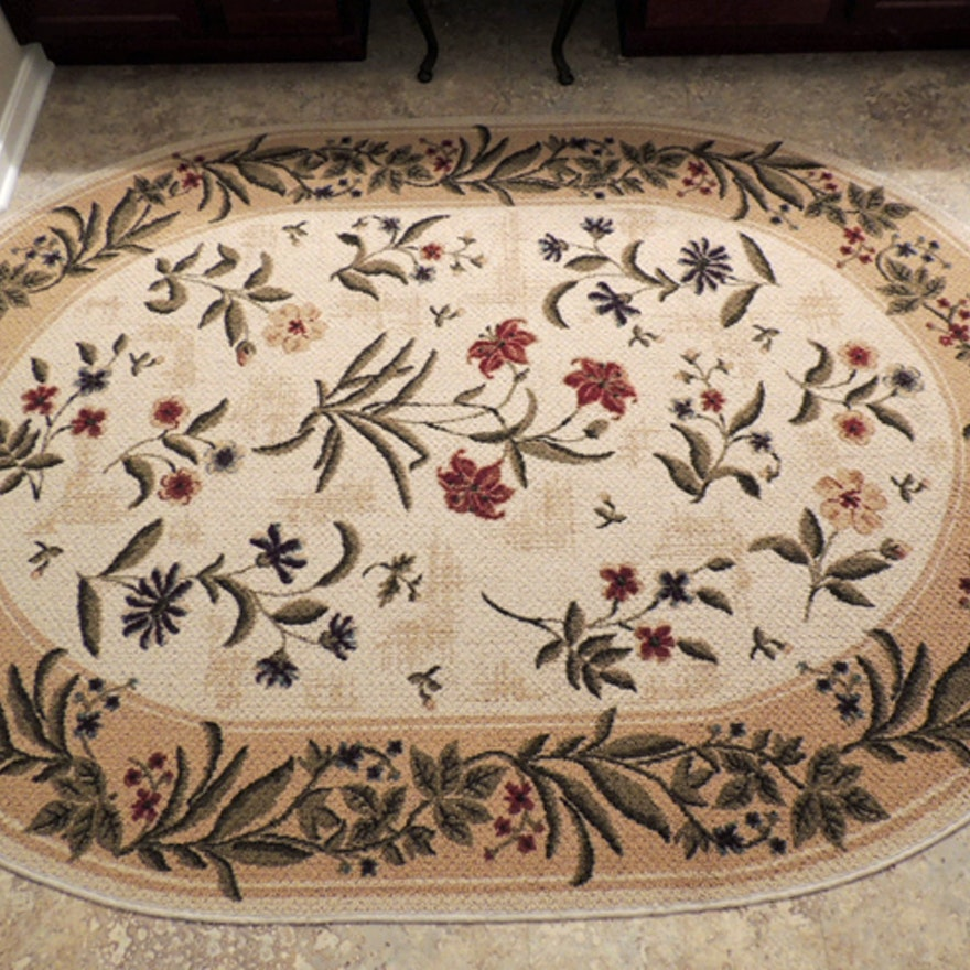Shaw Living Oval Area Rug Summer Flowers