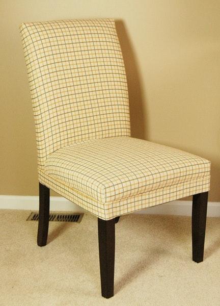 Parson Plaid Accent Chair Ebth