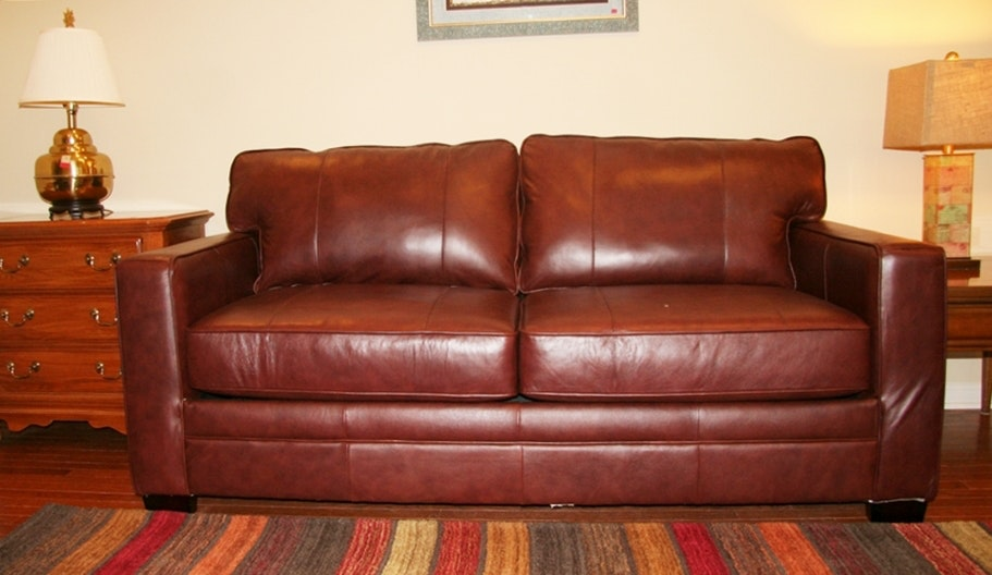 Havertys Leather Sleeper Sofa Ebth
