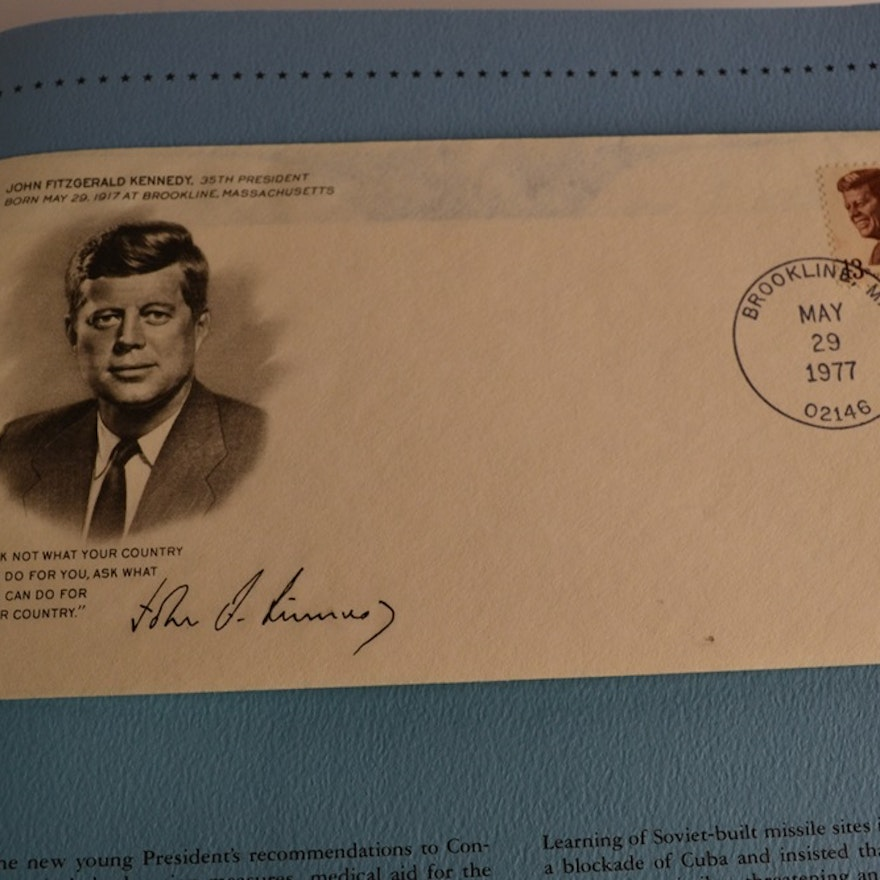 Westport Collectors Society Presidents Of The United States Stamp Album EBTH