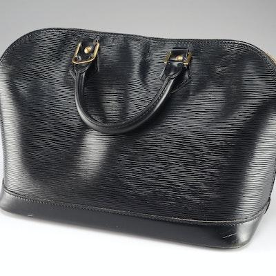79b1a1488735 Vintage Louis Vuitton Alma Classic Bag in Black Epi Leather