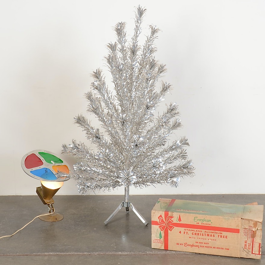 Evergleam Aluminum Christmas Tree With Color Wheel | EBTH