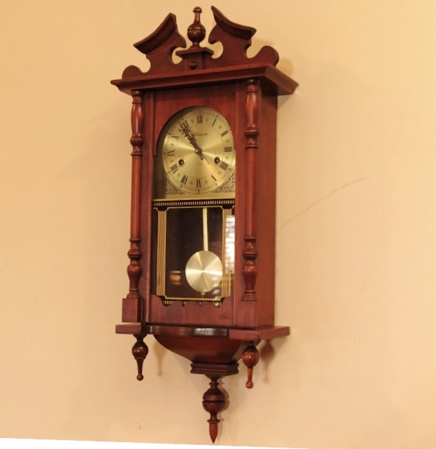 Vintage wentworth 31 day vienna regulator wall clock in the vintage wentworth 31 day vienna regulator wall clock in the chippendale style amipublicfo Image collections