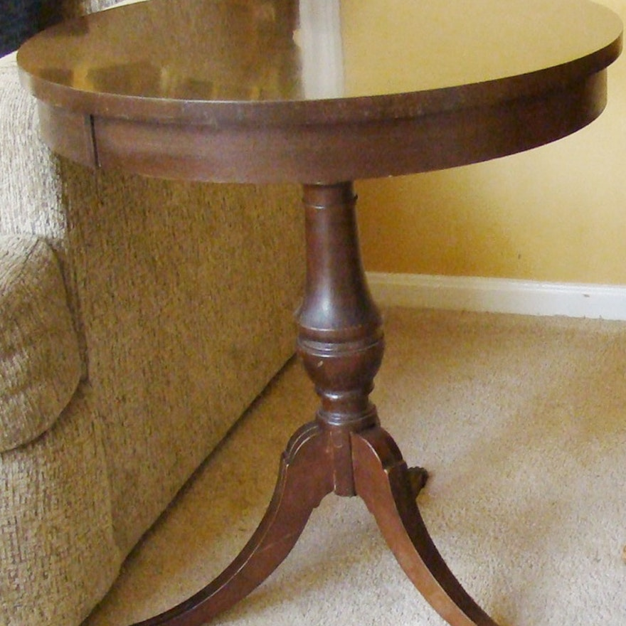 Vintage Mersman Round Side Table