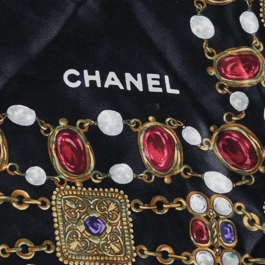 d7f1421aeaf Vintage Chanel Silk Scarf   EBTH