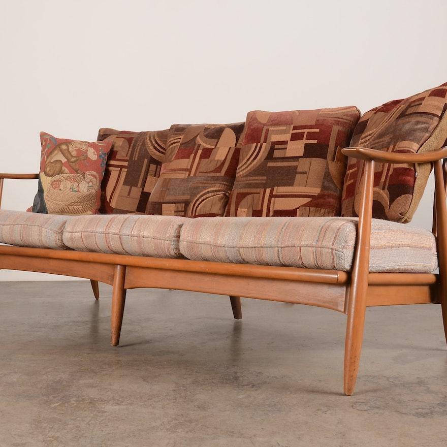 Mid Century Modern Danish Wood Frame Sofa Ebth