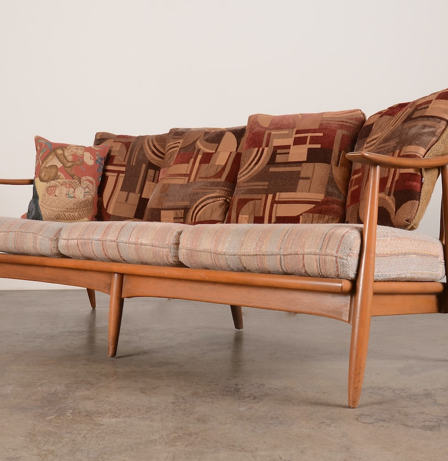 Mid century modern couch for sale - Mid Century Modern Danish Wood Frame Sofa
