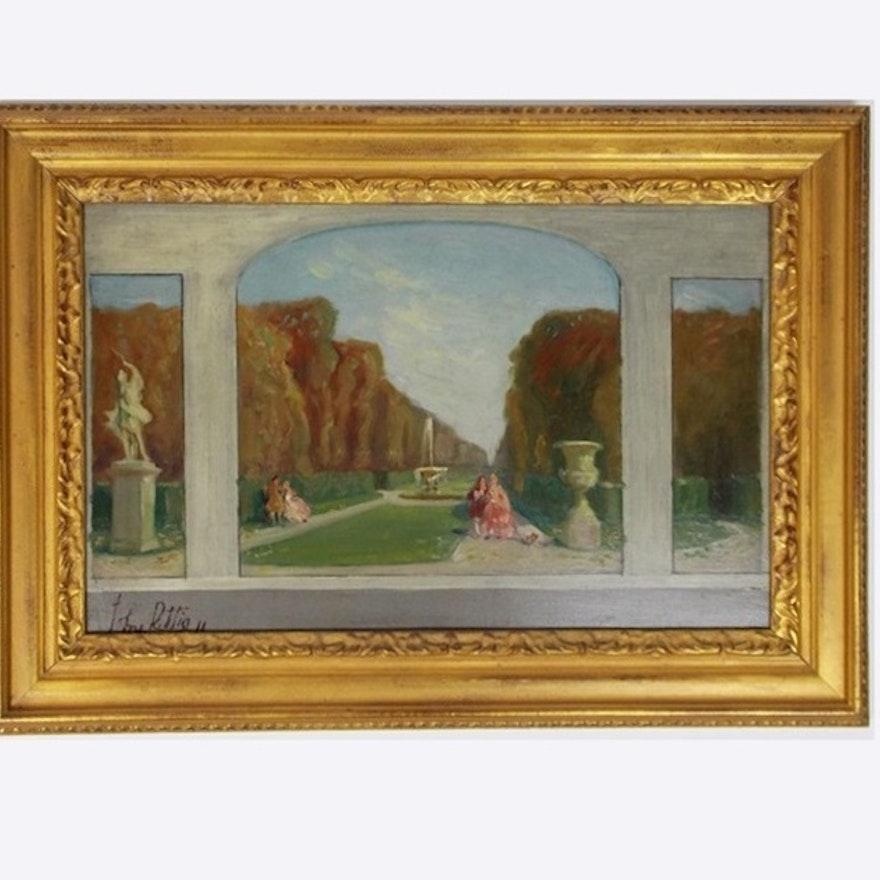 An Original Painting by Cincinnati Rookwood Artist John Rettig : EBTH