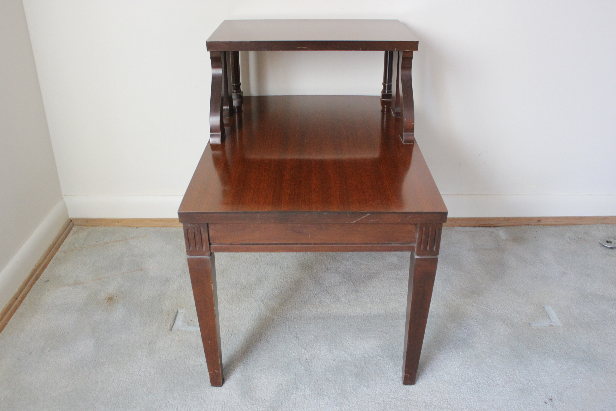 Mersman Mahogany TwoTier Side Step Table EBTH