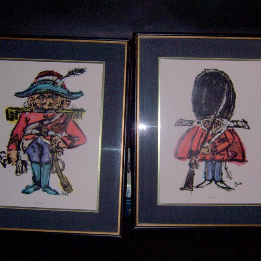 Framed Watercolor Prints : EBTH