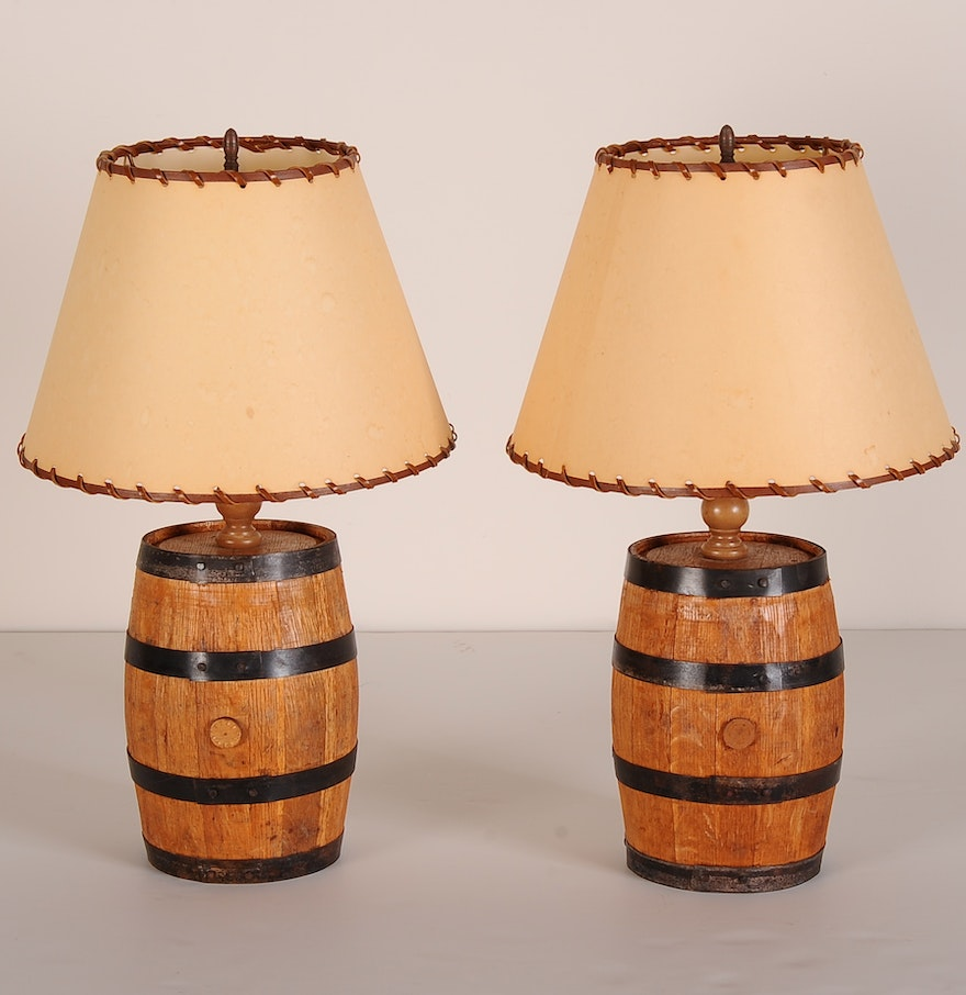 Whiskey Barrel Table Lamps : EBTH