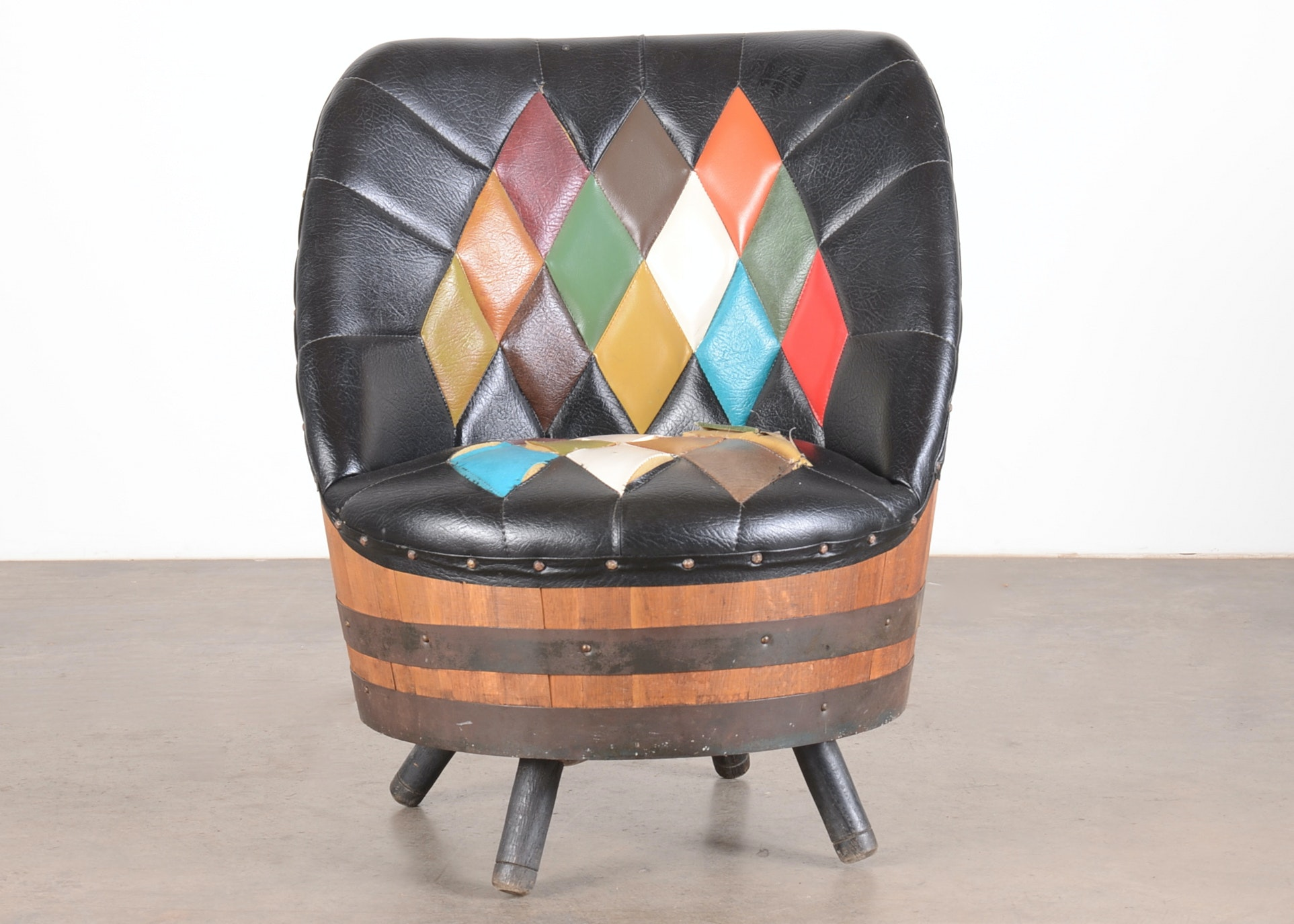 Mid Century Modern Whiskey Barrel Chair ...
