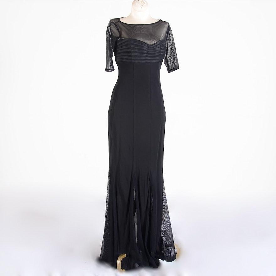 JS Collections Black Evening Dress : EBTH