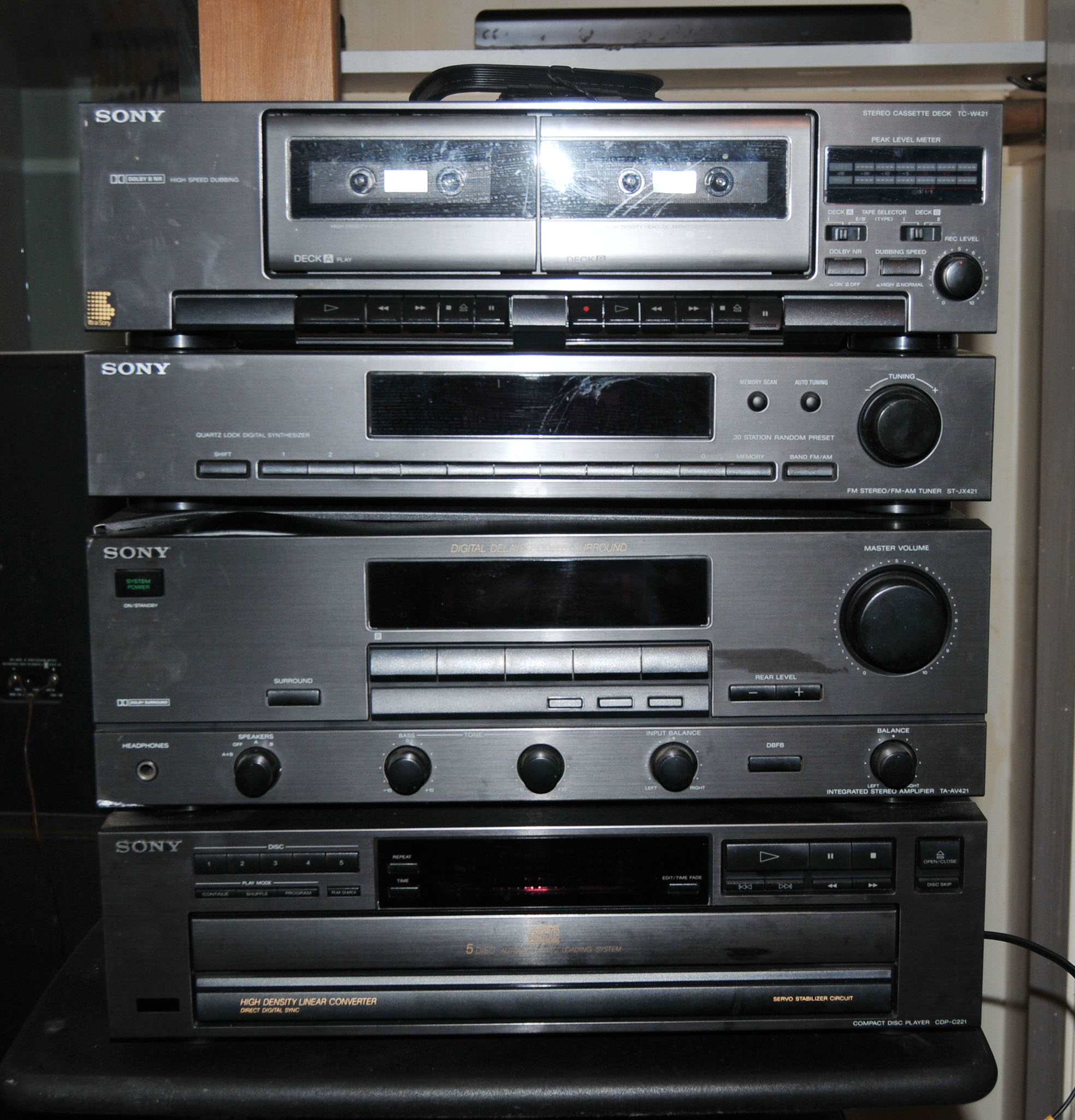 Sony Component Stereo System Includes Cd Player  Turntable