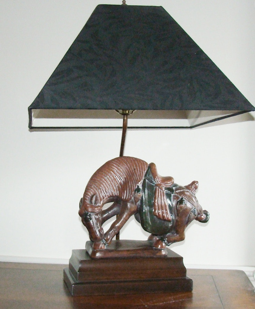 frederick cooper bowing horse lamp