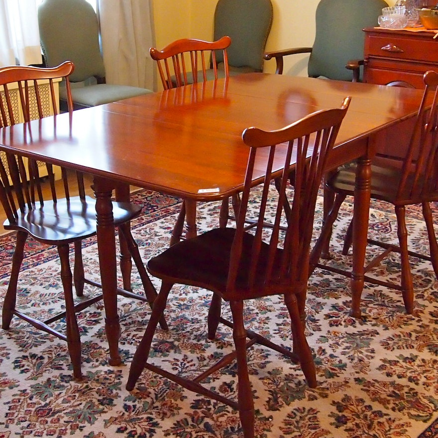 Cherry Table And Chairs: Cherry Wood Dining Table And Chairs : EBTH