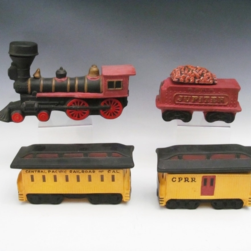 Vintage McCoy Pottery Train Decanter Set | EBTH
