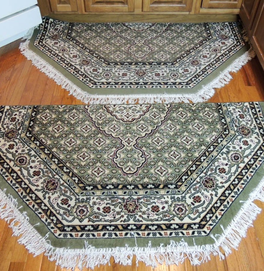 Omid Asia Turkish Tabriz Area Rugs Two Half Octagons : EBTH