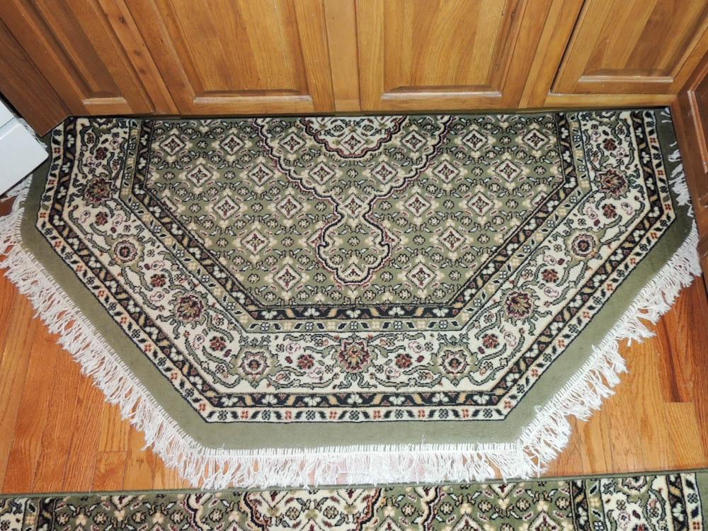 Omid Asia Turkish Tabriz Area Rugs Two Half Octagons Ebth