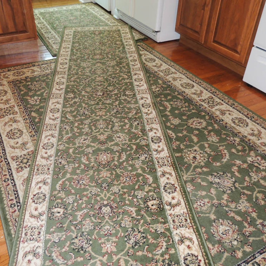 Set Of Three Omid Asia Contemporary Turkish Area Rugs