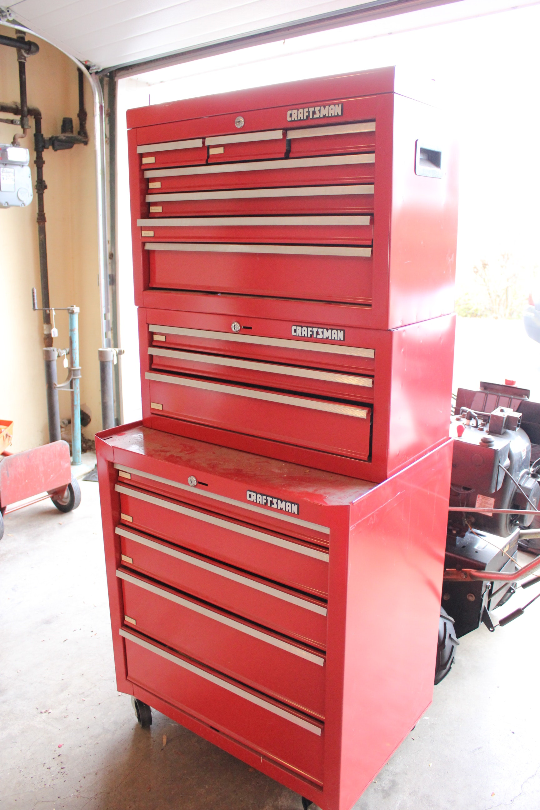 Craftsman Industrial Tool Chest 15 Drawers And Tools Ebth