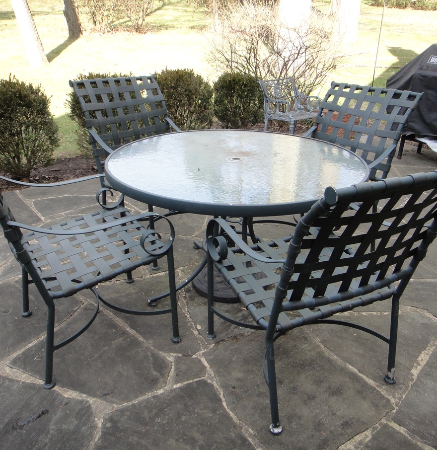 Patio Furniture Includes Round Table And Four Chairs EBTH