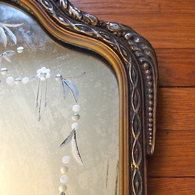 Vintage mirrors auction antique wall and floor mirrors for Long hanging mirror