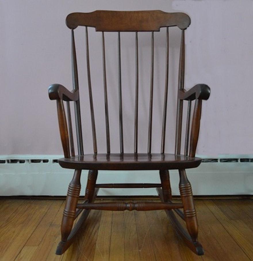 "Vintage Nichols & Stone ""Boston Rocker"" Wood ..."