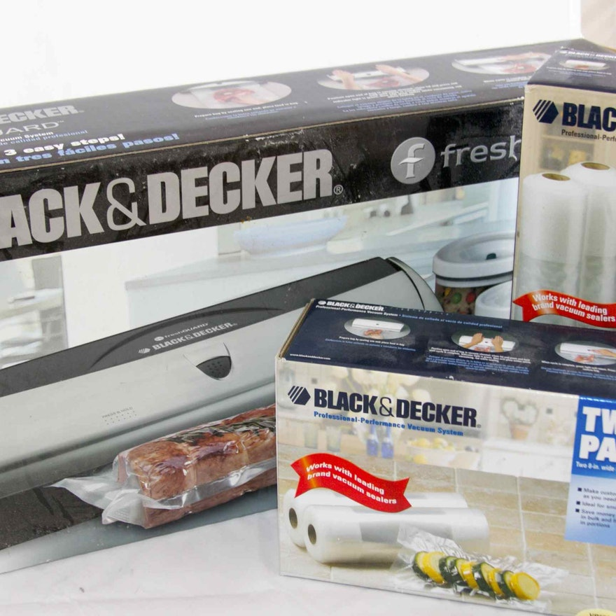 Black & Decker Fresh Guard Food Sealing System and Electric Food ...