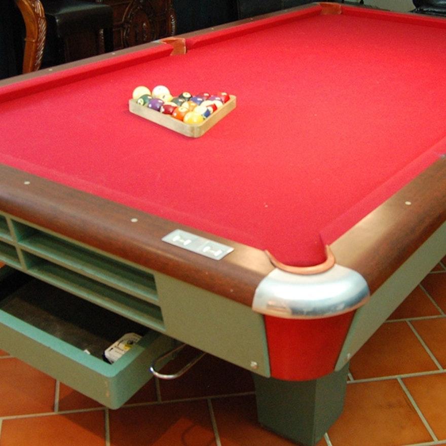 Top Line Billiard Table And Pool Sticks EBTH - Topline pool table