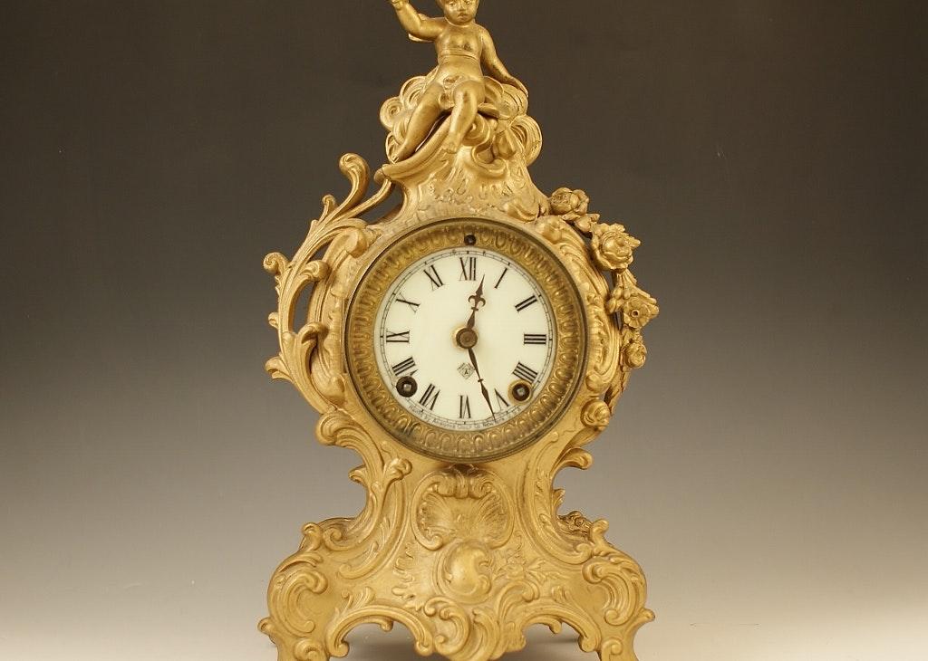 Circa 1905 Ansonia Cygnet Clock