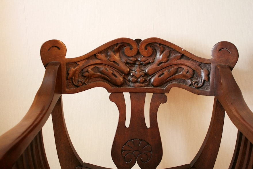 Hand Carved Victorian Chair Ebth