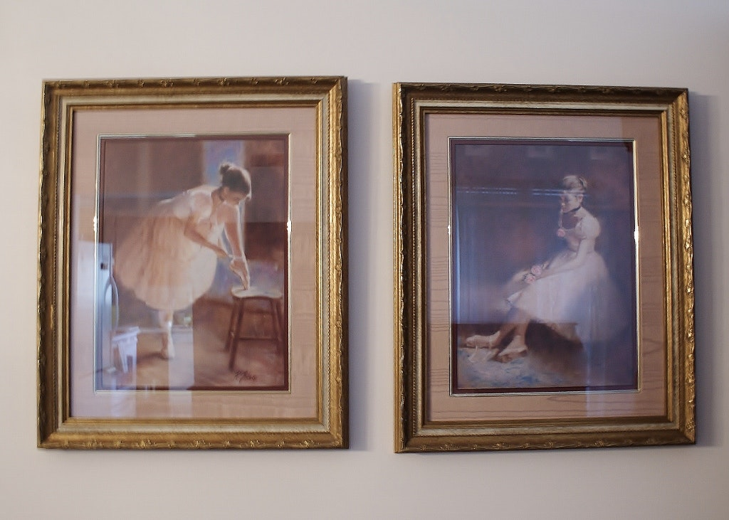 Pair Of Tolan Framed Ballerina Prints Ebth