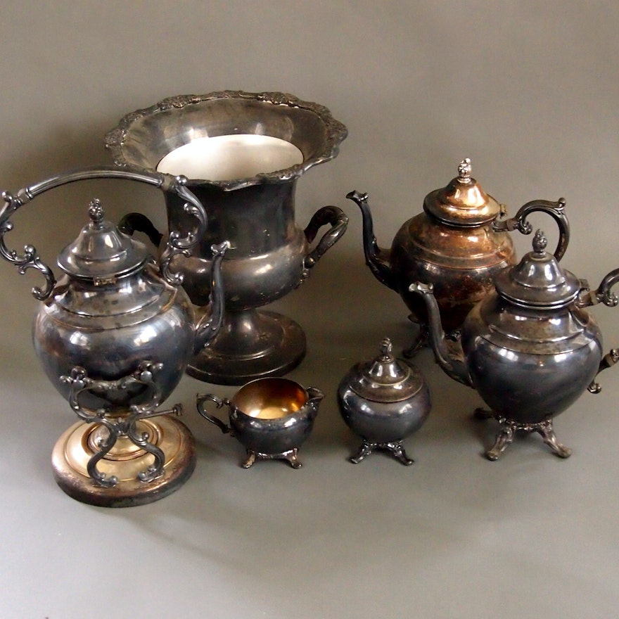 Victorian Style WM Rogers Silverplated Tea Set : EBTH