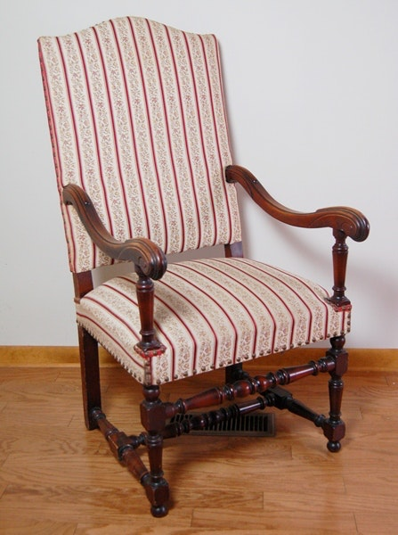 louis xiii style throne chair