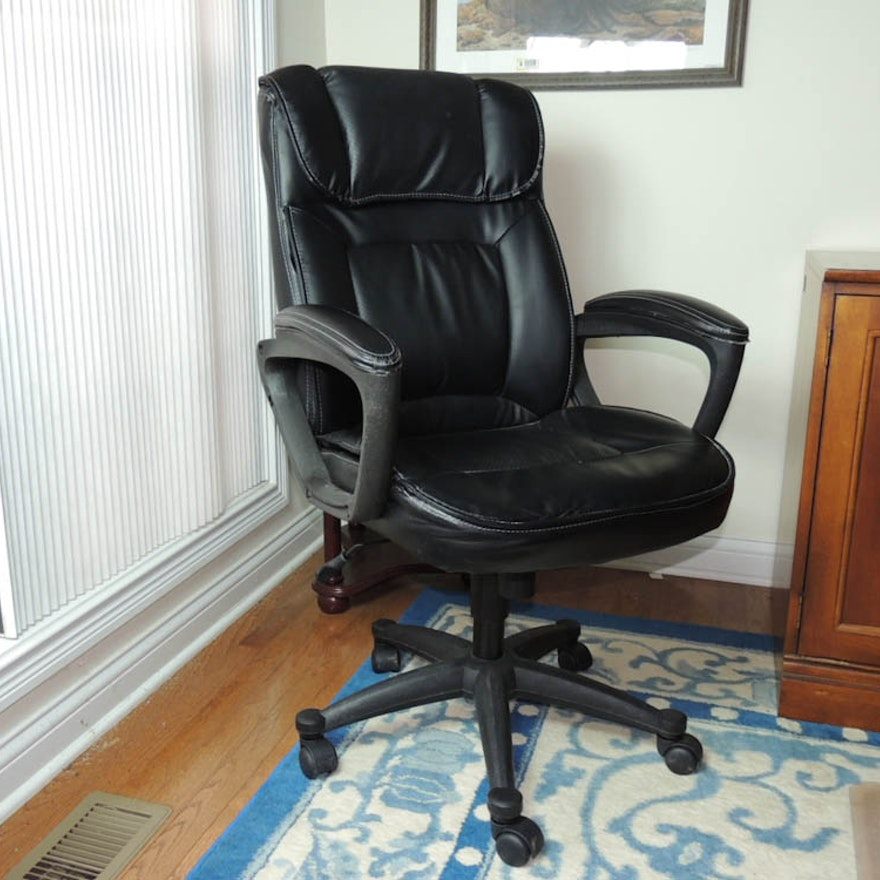 Broyhill Leather Office Chair