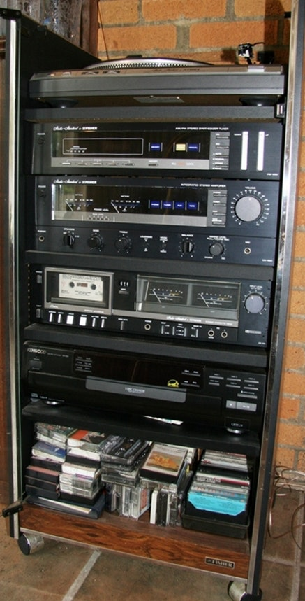 Fisher Stereo Equipment And Cabinet ...