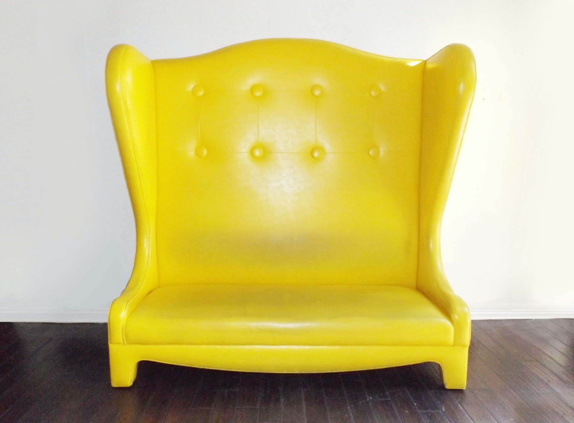 Fabulous Signature FB Yellow Vinyl Settee