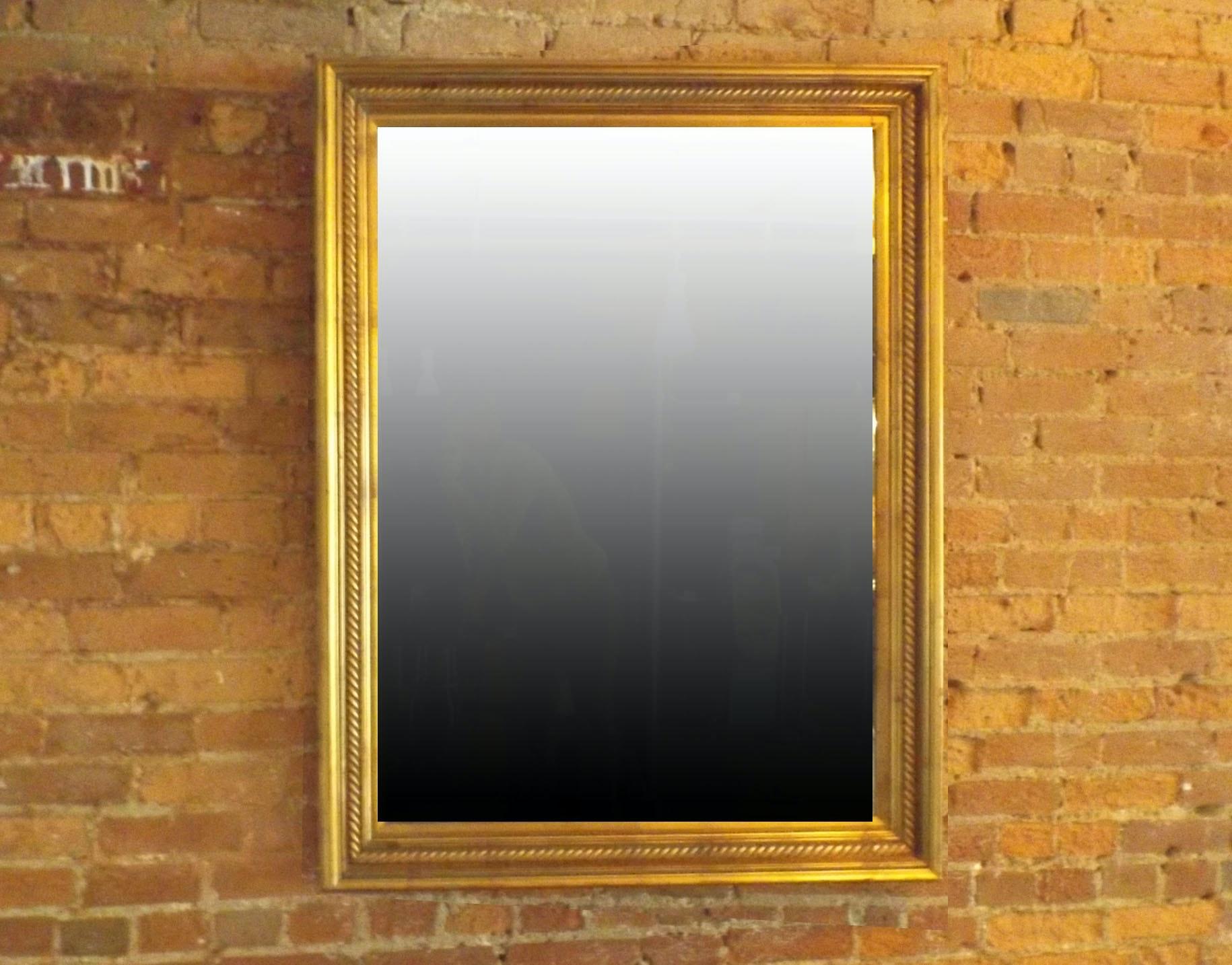 Gilt-Framed Beveled Mirror