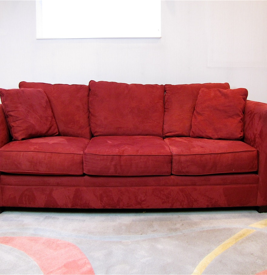 Red suede sofa best 25 suede sofa ideas on pinterest for Suede sectional